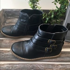 Other - Black Buckle Little Girls Boots